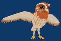 free gylfie owl 3d model