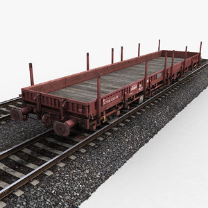 3ds max flat wagon