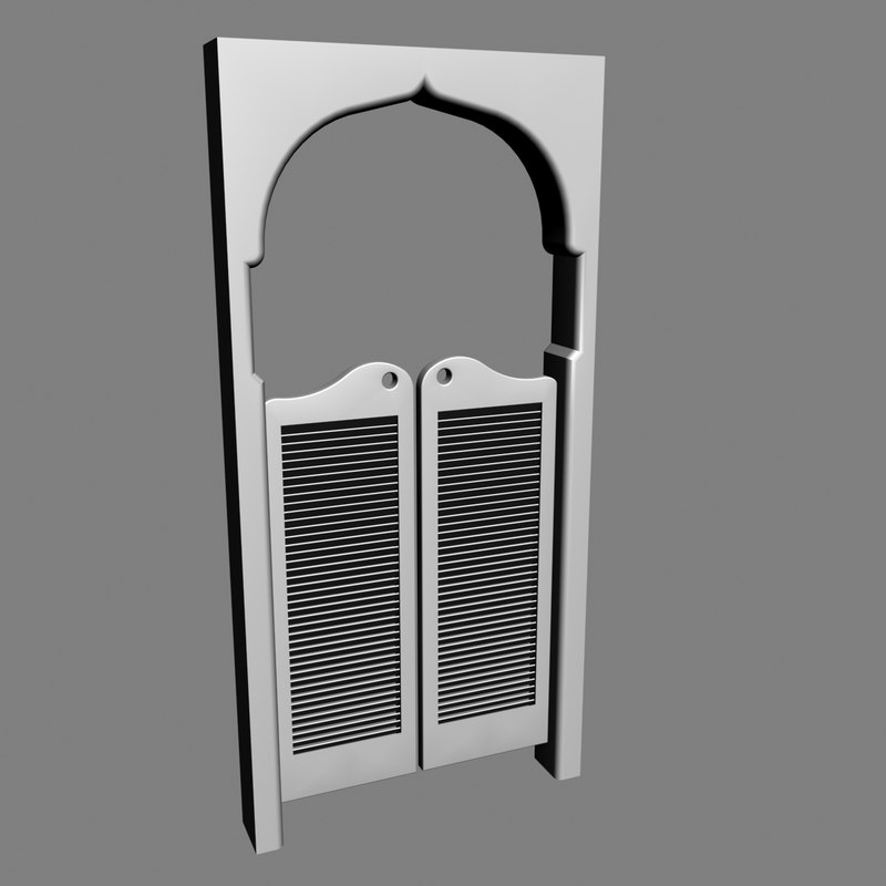 Unique 3d model saloon door DP96
