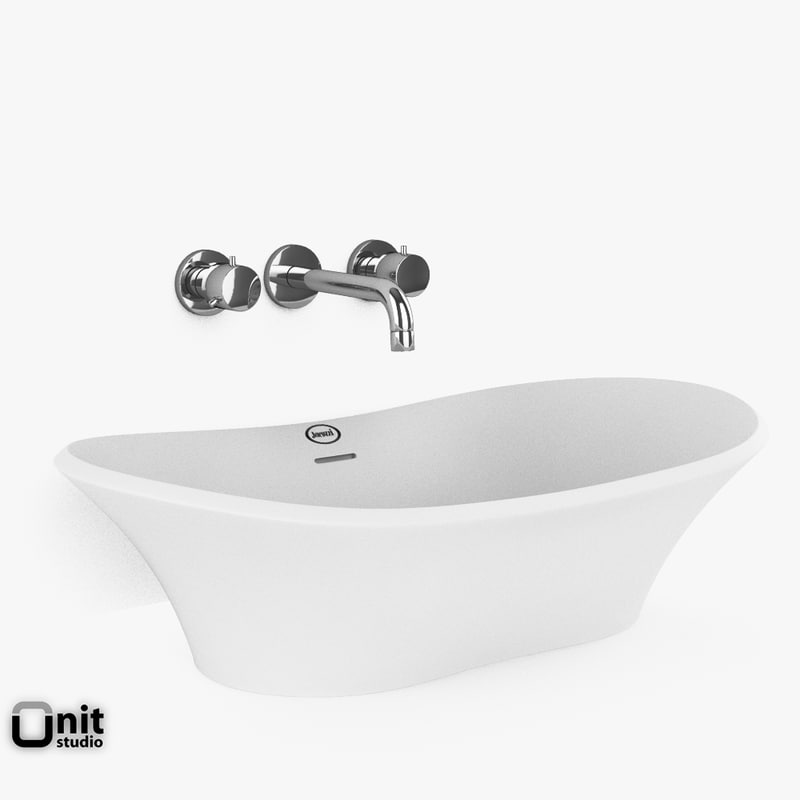jacuzzi infinito washbasin faucet 3d max