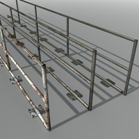 x metal railings