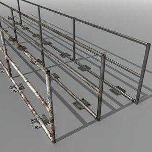 x metal railings