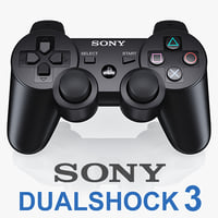 3d sony ps3 dualshock controller model