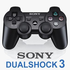 3d sony ps3 dualshock controller model
