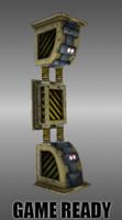 3d model sci fi pillar