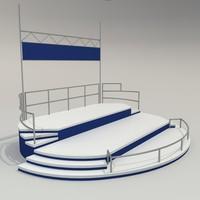 stage presentation 3d model