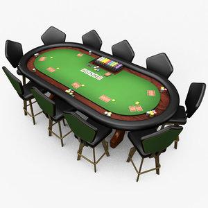 3d casino poker table -