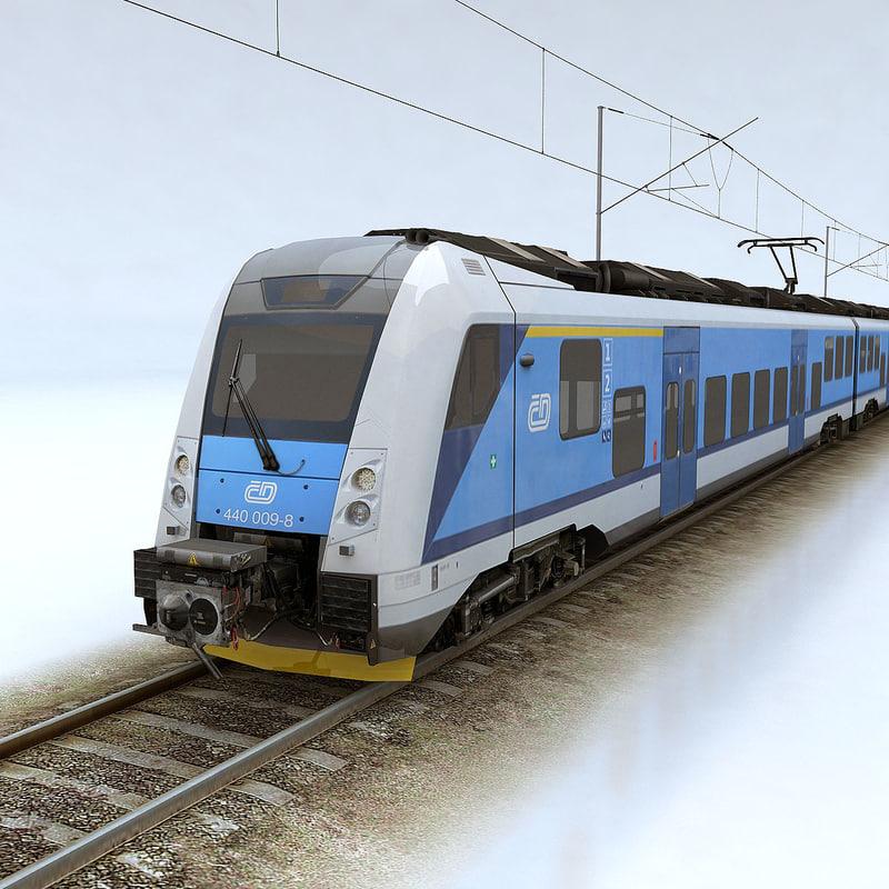 3d model panter railroad passenger