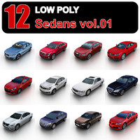 Low Poly Sedans vol.1