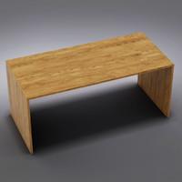 3d crate barrel - desk model