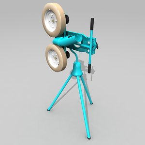 softball pitching machine 3d model