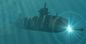 free submarine 3d model