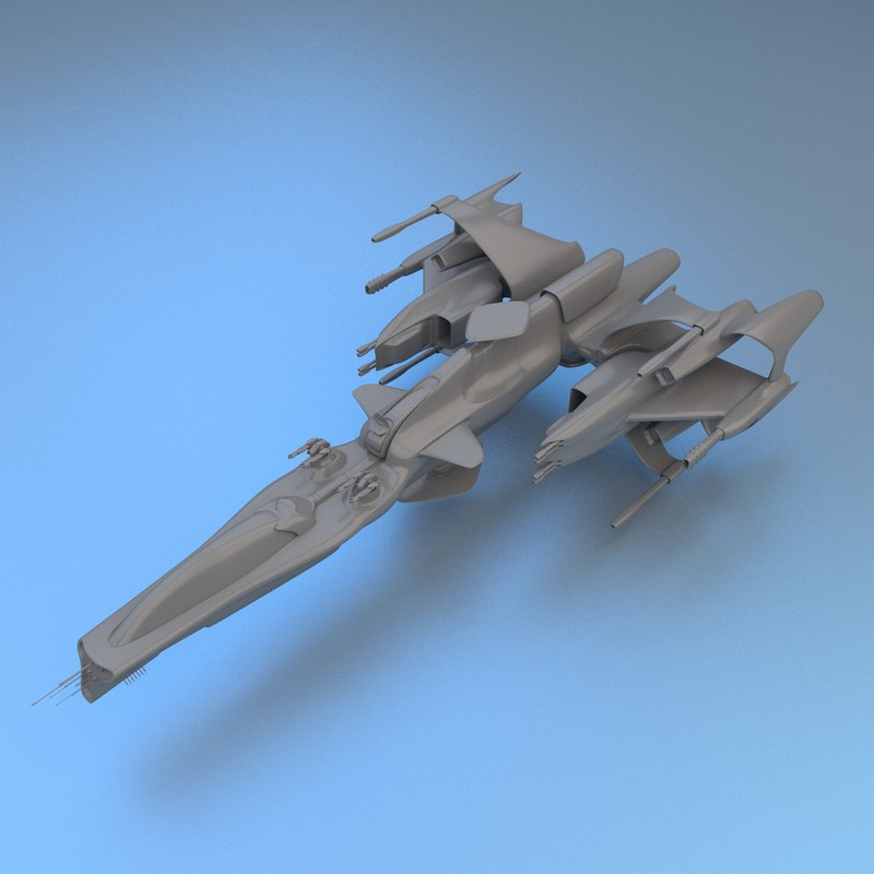 blender gunship gun