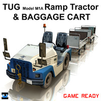 TUG Ramp Tractor & Baggage Cart
