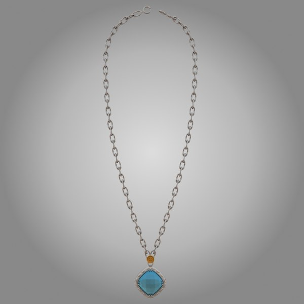 3d model of tacori necklace