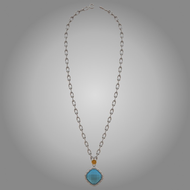 3d model of tacori necklace
