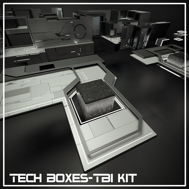 3ds max tech boxes-tb1 kit