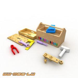 children toolbox 3d model