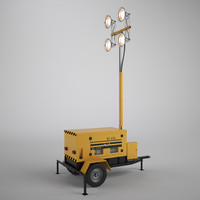 3d work light tower