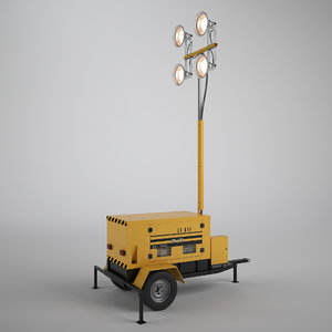 3d work light tower