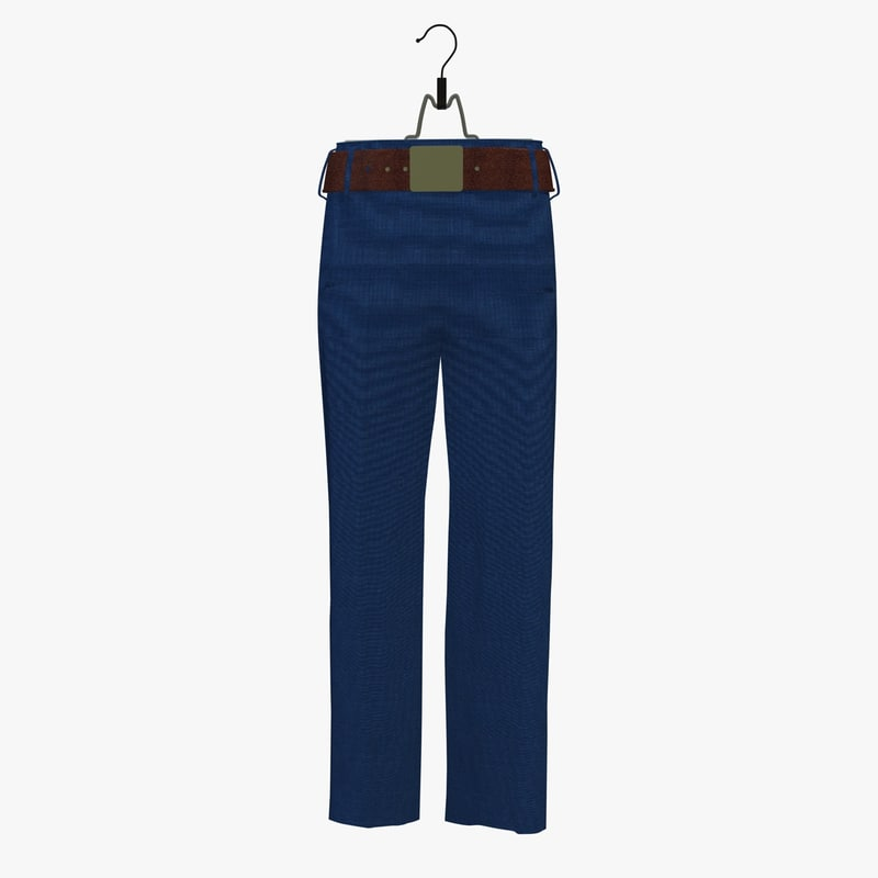 womans blue trouser hanger 3d model