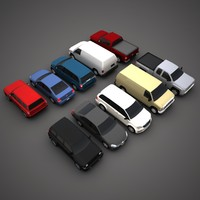 Low Poly Vehicles Collection