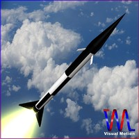 3ds max sounding rocket black brant