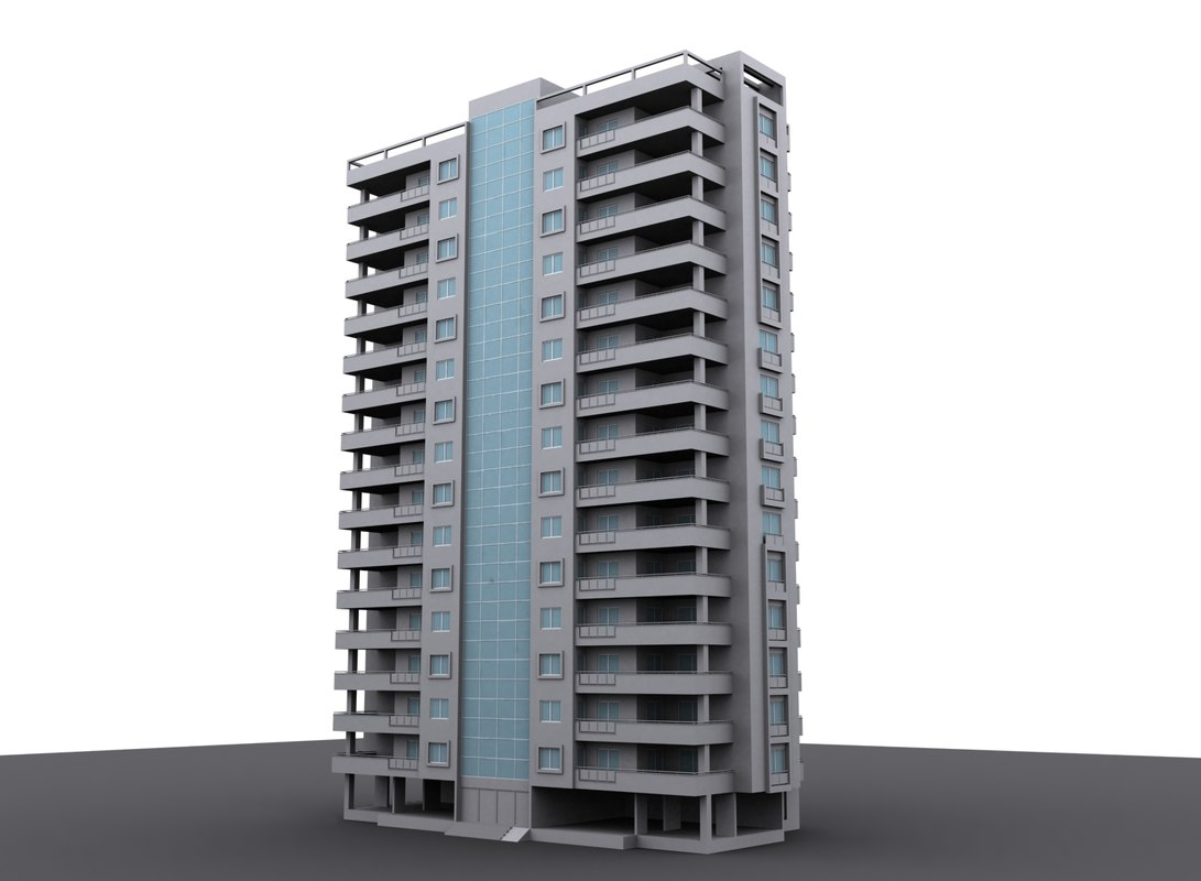 3d model apartment rendered ready