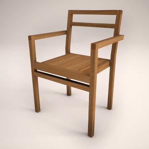 3d wooden design chair