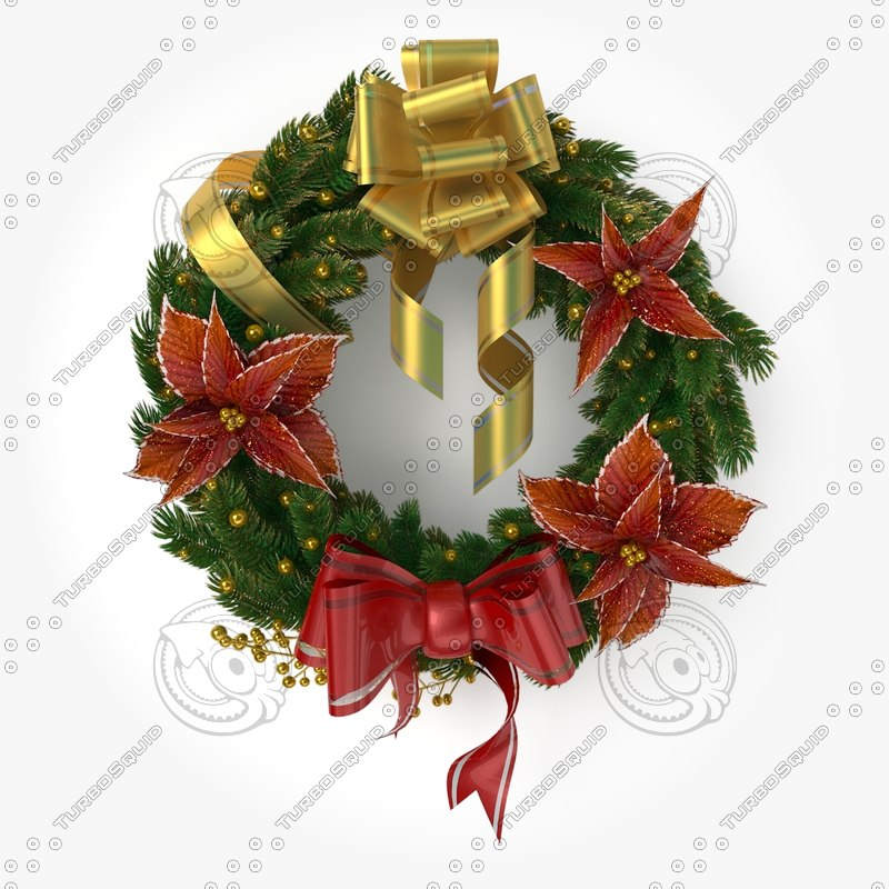 D christmas wreath