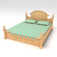 cot bed 3d 3ds