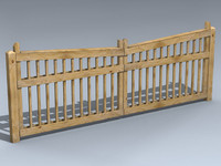 3ds driveway gate pine lumber