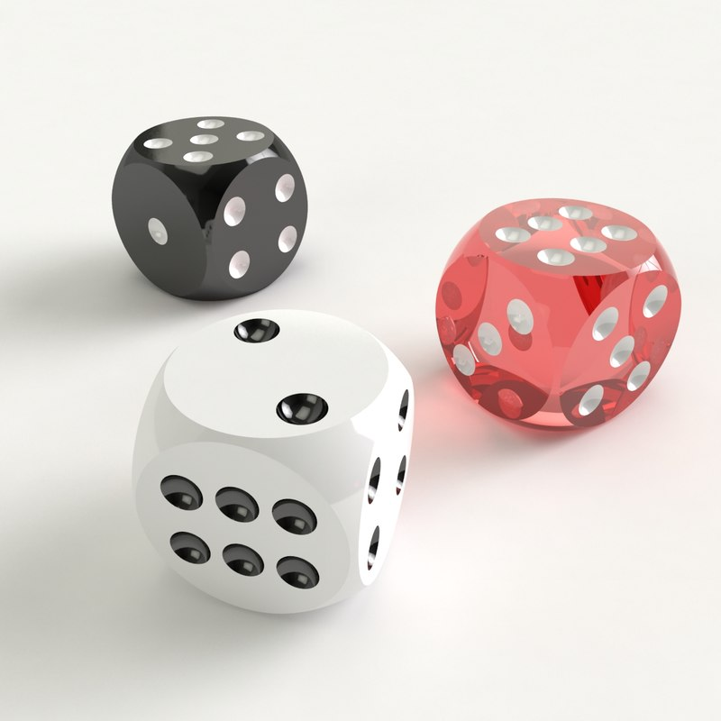 playing dices 3d max