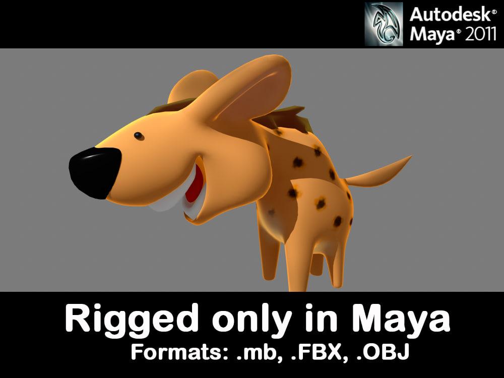 hyena 3d model