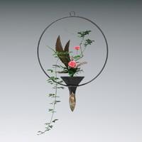 3dsmax ikebana flower