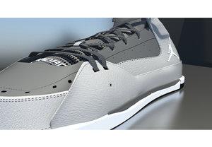 stylized jordan shoe 3d model