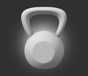 kettle bell 3d model