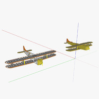 3d freight aircraft model