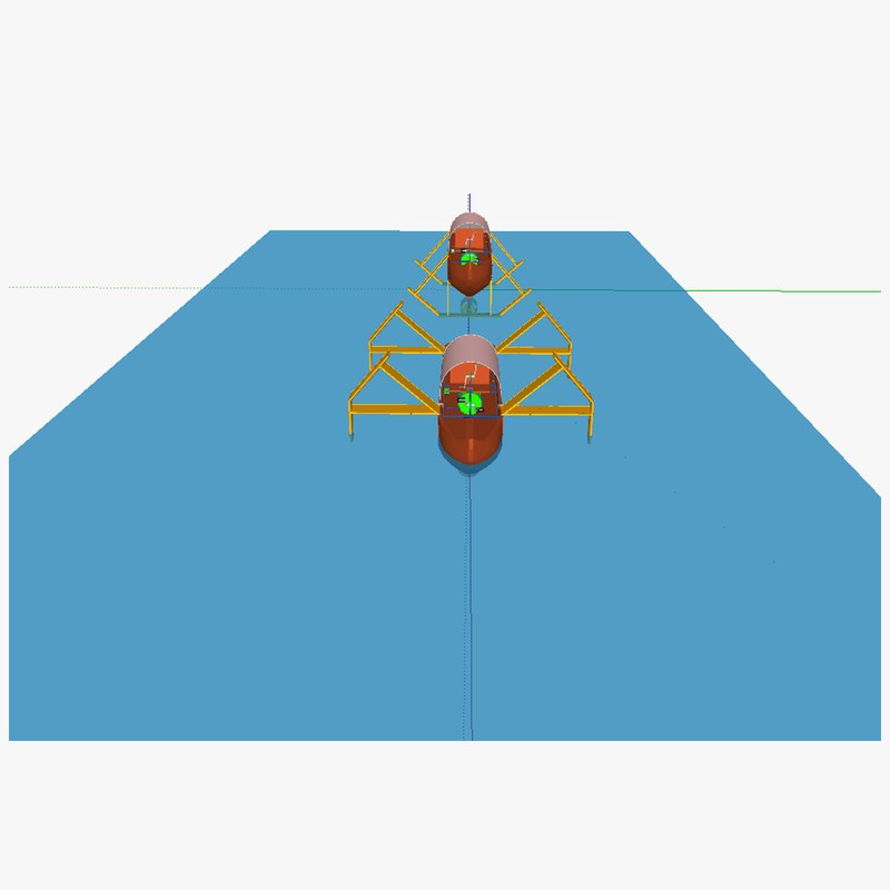 3d monoxylon boat model