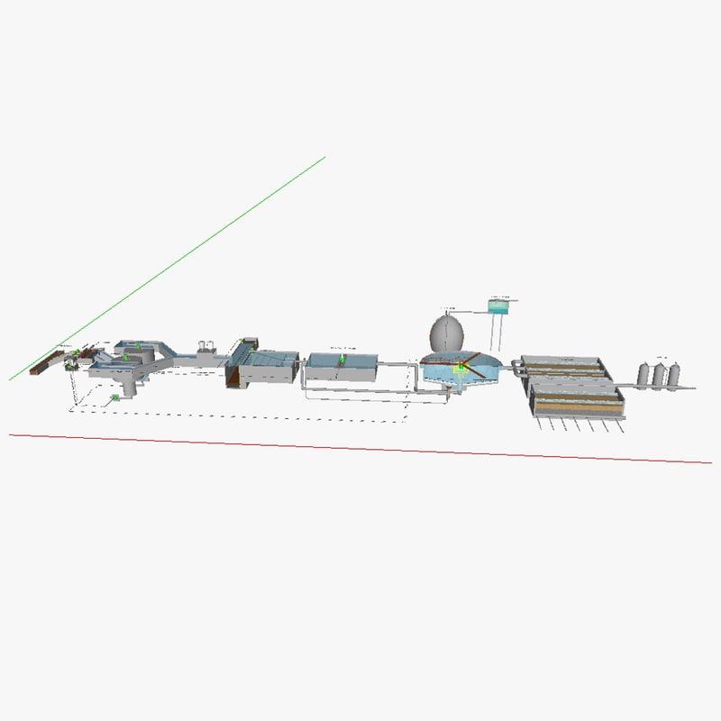 3d water treatment plant