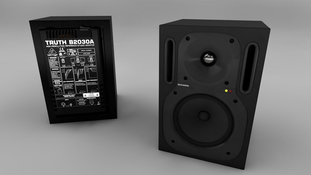 behringer b2030a 3d model