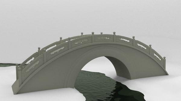 3d chinese moon bridge model