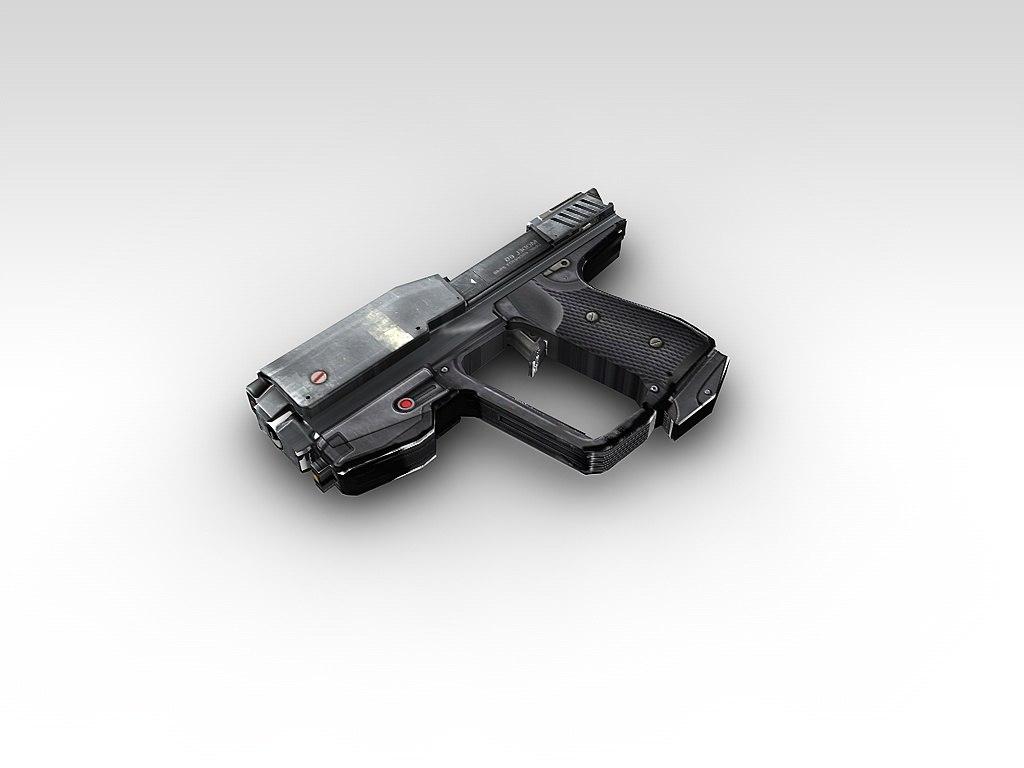 3d model gun automatic