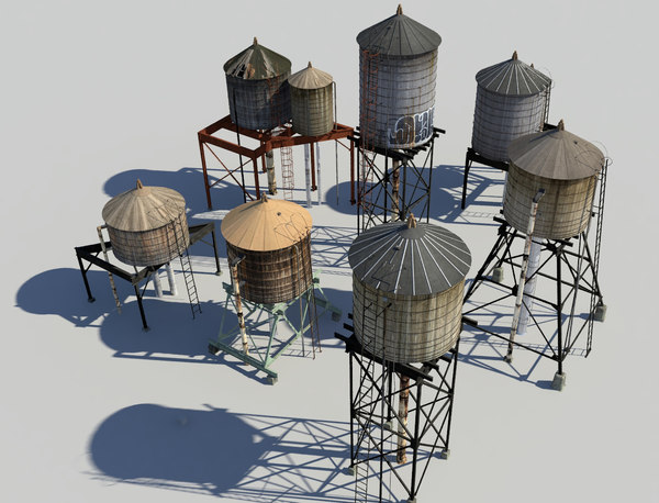 water towers 3d model