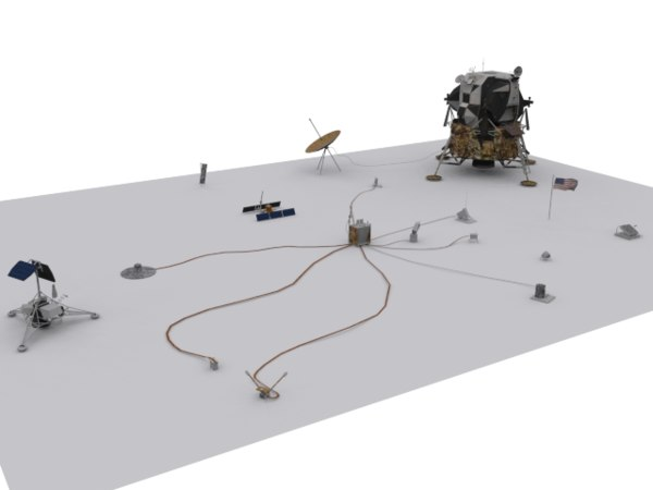 3d model of apollo lunar module alsep