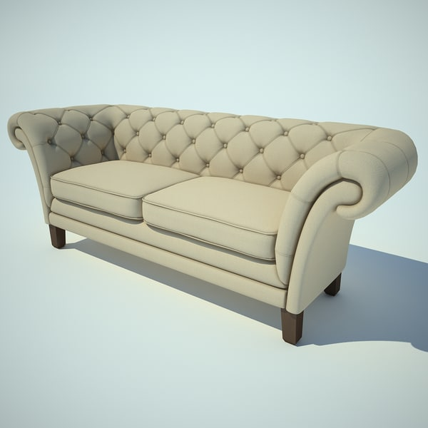 quilted sofa obj