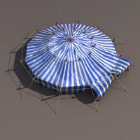 Blue Circus Tent