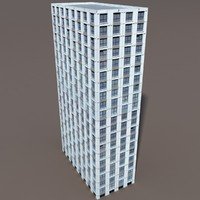 3d high-rise modelled