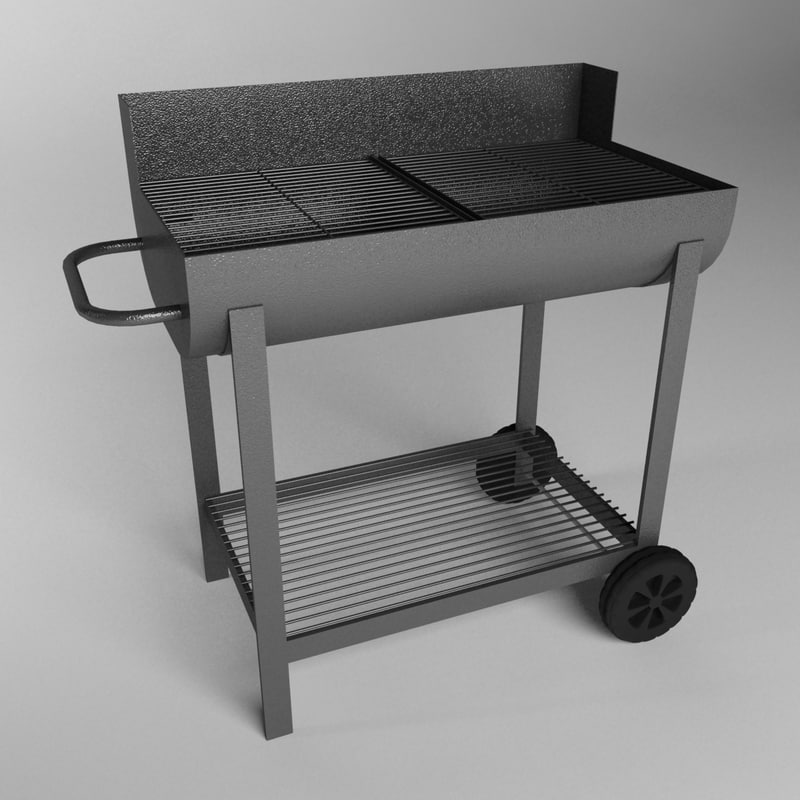outdoor barbecue grill 3d model