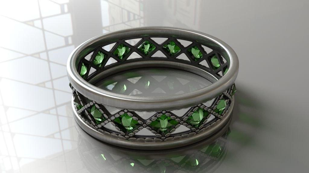 realistic ring stones 3d model